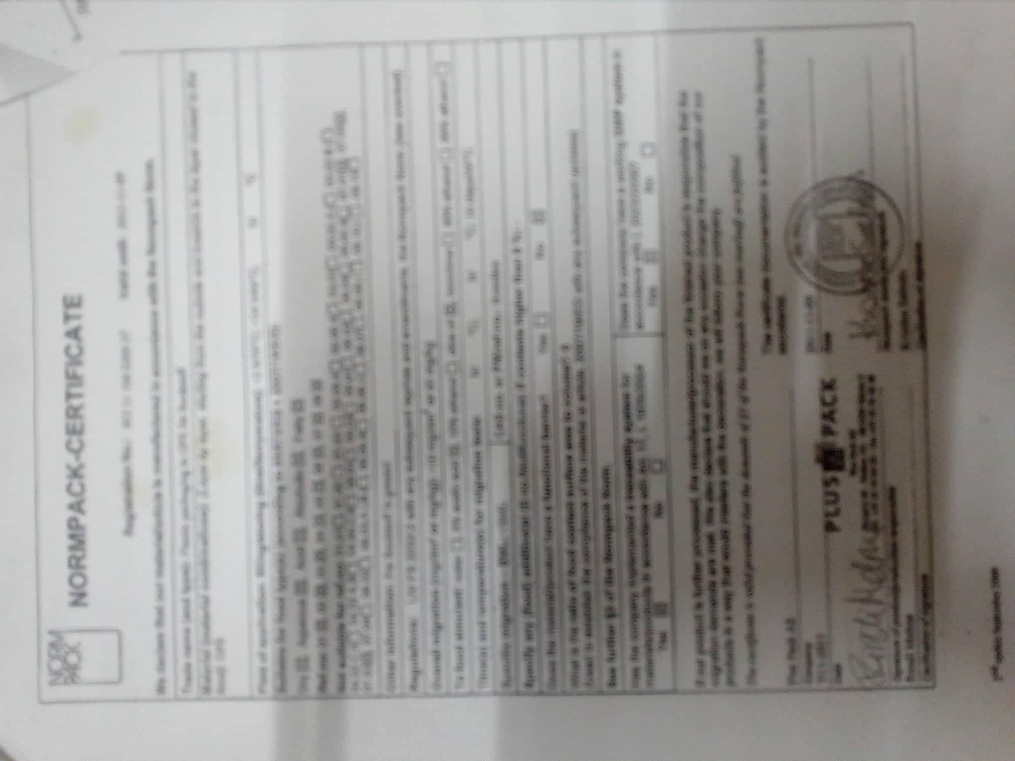 normpack-certificate